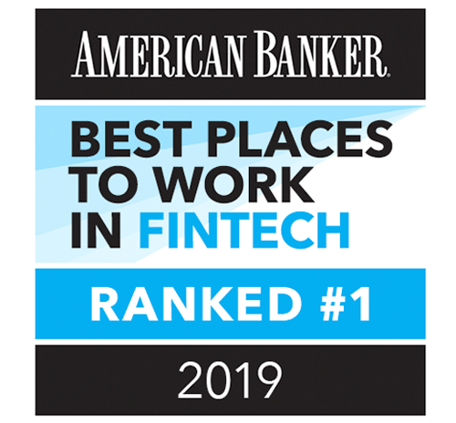 American Banker - Ranked #1 Best Place to Work in FinTech 2019