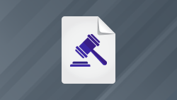 White paper icon; Judge's gavel