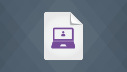 White paper icon of open laptop