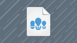 Icon of Paper with Three Silhouettes