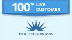 100th Live Customer Pacific Western Bank